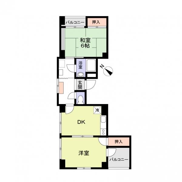 志村リリーマンションの間取図