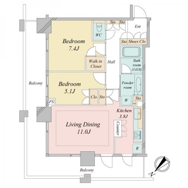 ザ・クレストタワーの間取図
