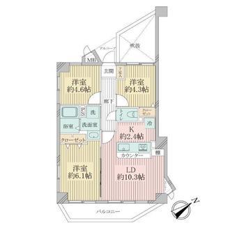 リブゼ武蔵新城の間取図