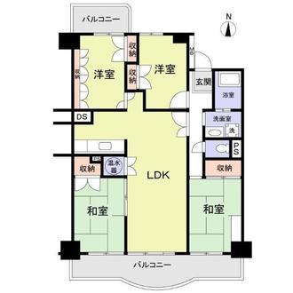 山王住宅S棟の間取図