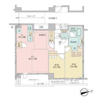 プラウド武蔵新城ディアージュの間取図