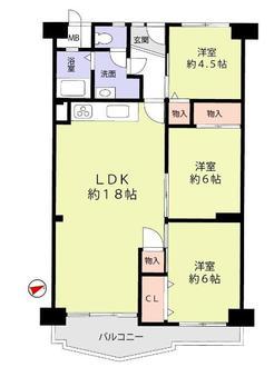 千里桃山台団地A1の間取図