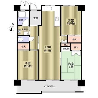 島田橋住宅の間取図