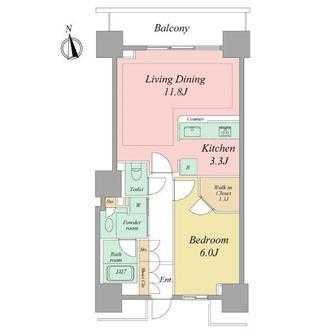 ベイクレストタワーの間取図
