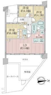 ナイスクオリティス横濱鶴見の間取図