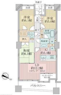 パークスクエア横浜の間取図