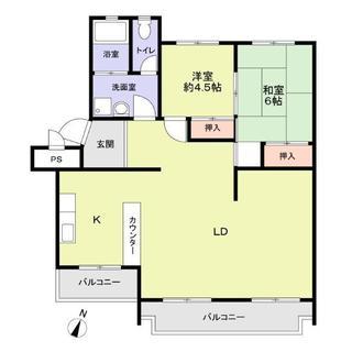 桃山住宅六号棟の間取図