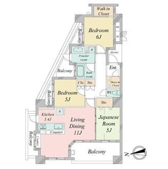 ルネサンス宮前ハーモニープレイスの間取図
