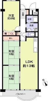 淀川パークハウスE棟(7号棟)の間取図