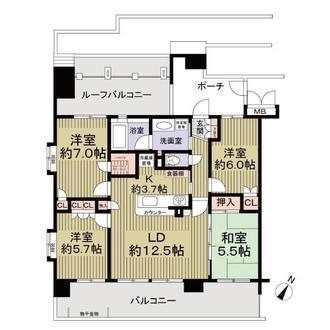 サンクレイドル松戸弐番館の間取図