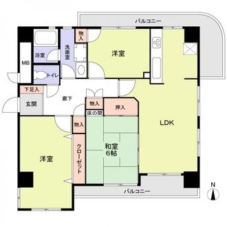 チサンマンション高蔵寺の間取図