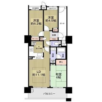 タワーズランド北野田フロントタワーの間取図