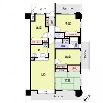 コアマンション和白東パセオの間取図