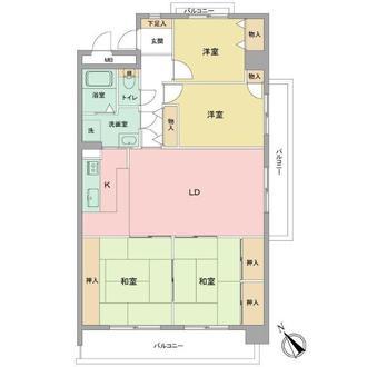 ライオンズマンション室見ガーデンの間取図