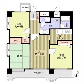 ライオンズマンション南福岡中央の間取図