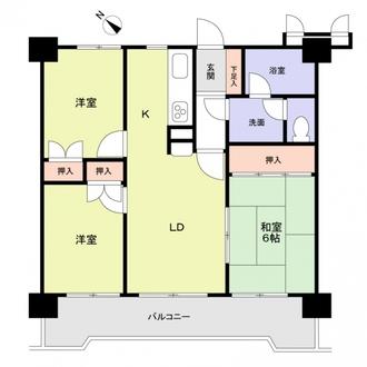 ロフティ箱崎201通りの間取図