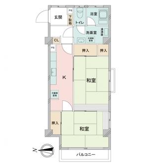 大山パールマンションの間取図