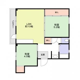 厚生年金住宅2号棟の間取図
