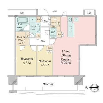 アーバンドックパークシティ豊洲タワーAの間取図