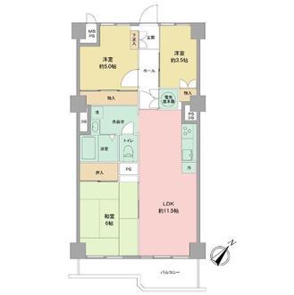 鵠沼パークハウスの間取図