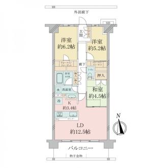 ファインシティ横浜江ケ崎ルネの間取図