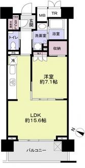 武蔵浦和SKY&GARDEN E棟の間取図