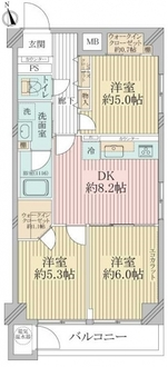 横浜ヒルパーク神の木ハイツの間取図