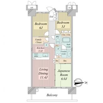 ソルグランデメイツ多摩境グリーンコートの間取図