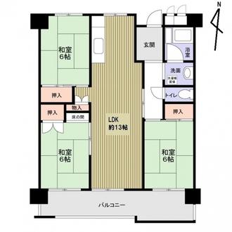 島田橋住宅3棟の間取図