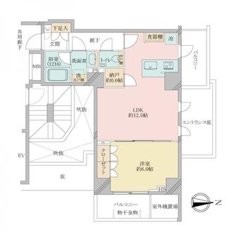オープンレジデンシア文京本郷の間取図