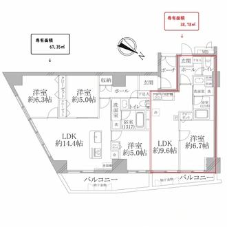 ロワール横濱レムナンツの間取図