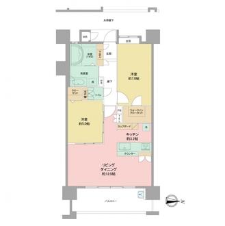 サングレート別府の杜アルカンフォールの間取図