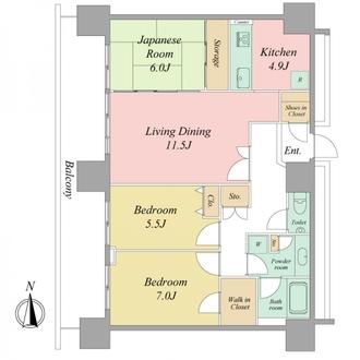 リベーラガーデンI棟(マリナタワー)の間取図