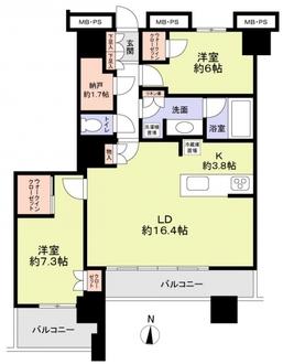 グランドミッドタワーズ大宮フォレストタワーの間取図