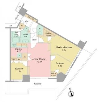 キャピタルマークタワーの間取図