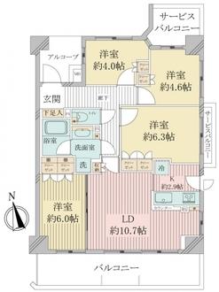 ナイスアーバンスクエア横濱東寺尾の間取図