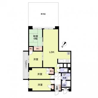 高宮パークマンションの間取図