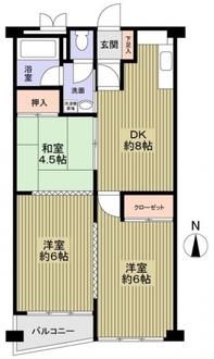 旭コーポA棟の間取図