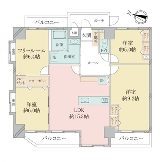 アーバンヒルズ神戸中央の間取図