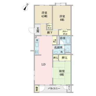 横浜ハイタウン3号棟の間取図