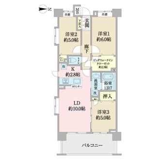 クレストフォルム武蔵小杉ブライトコートの間取図