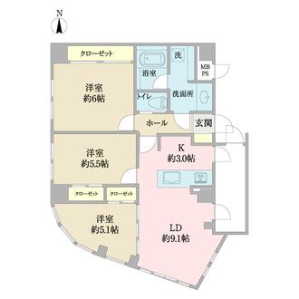 プレジャーガーデン木場弐番館の間取図