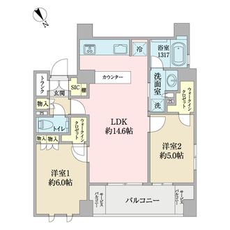 ブランシエラ東京三ノ輪の間取図