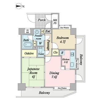 大倉山ガーデンハウスの間取図
