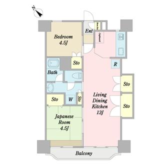 青葉台フラワーマンションの間取図
