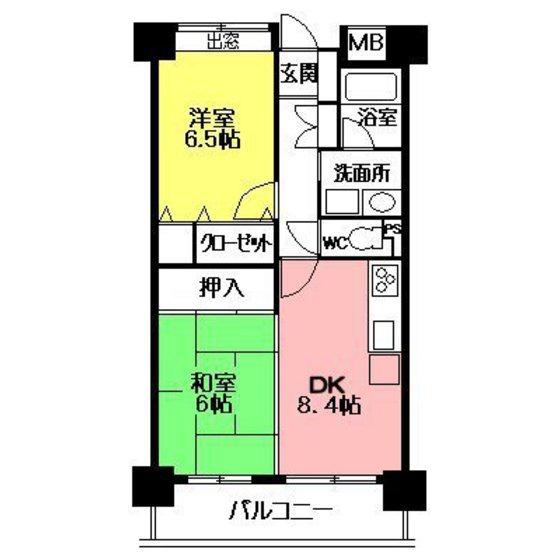 阪急西宮マンションの間取図