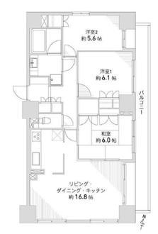 本山西ガーデンハウスの間取図