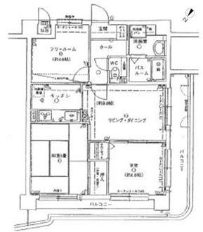 ローレル岡本南の間取図