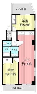 ライオンズマンション六甲道第5の間取図