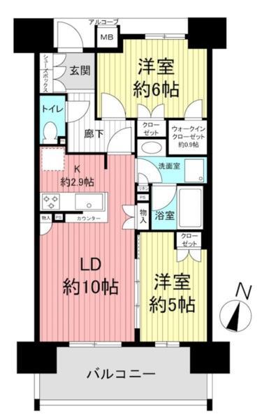 ザ・パークハウス神戸元町の間取図